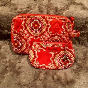 🆕 Vera Bradley cosmetic bag and ID bag